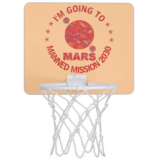 Mars The Red Planet Space Geek Solar System Fun Mini Basketball Hoop