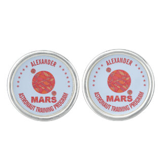 Mars The Red Planet Space Geek Solar System Fun Cufflinks