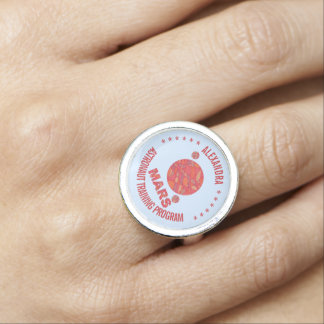 Mars The Red Planet Space Geek Solar System Fun Ring