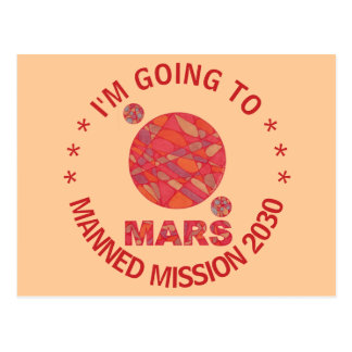Mars The Red Planet Space Geek Solar System Fun Postcard