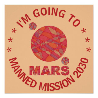 Mars The Red Planet Space Geek Solar System Fun Print