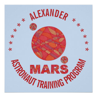 Mars The Red Planet Space Geek Solar System Fun Poster