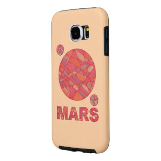 Mars The Red Planet Space Geek Solar System Fun Samsung Galaxy S6 Cases