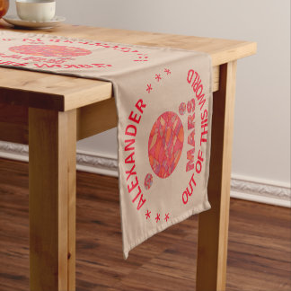 Mars The Red Planet Space Geek Solar System Fun Short Table Runner