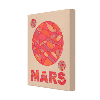 Mars The Red Planet Space Geek Solar System Fun Stretched Canvas Prints