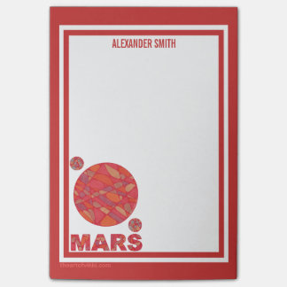 Mars The Red Planet Space Geek Solar System Fun Sticky Notes