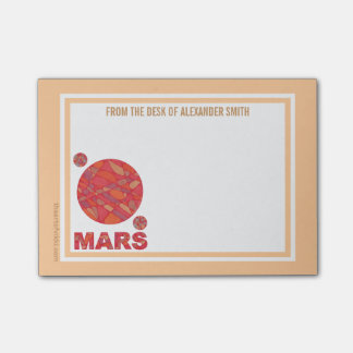 Mars The Red Planet Space Geek Solar System Fun Post-it® Notes