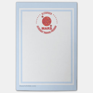 Mars The Red Planet Space Geek Solar System Fun Sticky Note