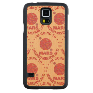 Mars The Red Planet Space Geek Solar System Fun Maple Galaxy S5 Slim Case