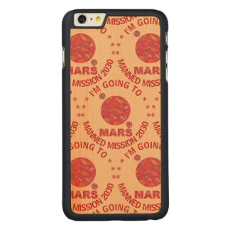 Mars The Red Planet Space Geek Solar System Fun Carved® Maple iPhone 6 Plus Case