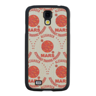 Mars The Red Planet Space Geek Solar System Fun Maple Galaxy S4 Slim Case