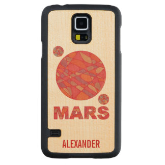 Mars The Red Planet Space Geek Solar System Fun Carved® Maple Galaxy S5 Case
