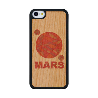 Mars The Red Planet Space Geek Solar System Fun Cherry iPhone 5C Case