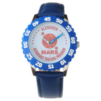 Mars The Red Planet Space Geek Solar System Fun Wristwatch