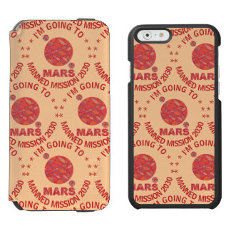 Mars The Red Planet Space Geek Solar System Fun Incipio Watson™ iPhone 6 Wallet Case
