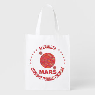 Mars The Red Planet Space Geek Solar System Fun Grocery Bag