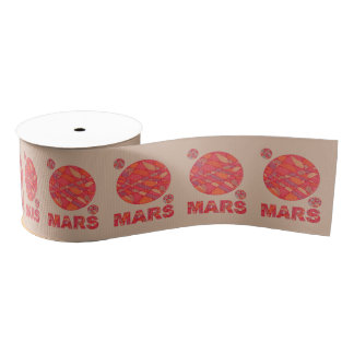 Mars The Red Planet Space Geek Solar System Fun Grosgrain Ribbon