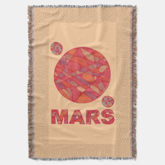 Mars The Red Planet Space Geek Solar System Fun Throw Blanket