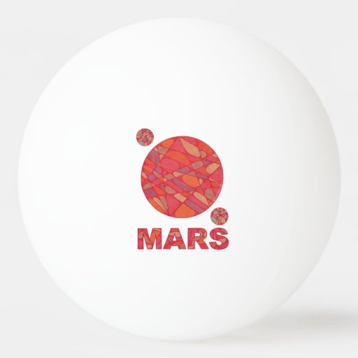 Mars The Red Planet Space Geek Solar System Ping Pong Ball