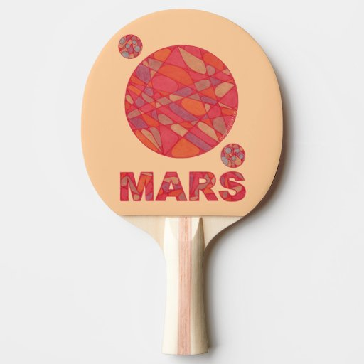 Mars The Red Planet Space Geek Solar System Ping Pong Paddle