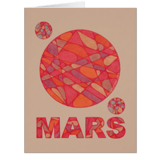 Mars The Red Planet Space Geek Solar System Jumbo Big Greeting Card
