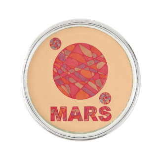 Mars The Red Planet Space Geek Solar System Lapel Pin