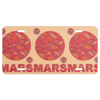 Mars The Red Planet Space Geek Solar System License Plate