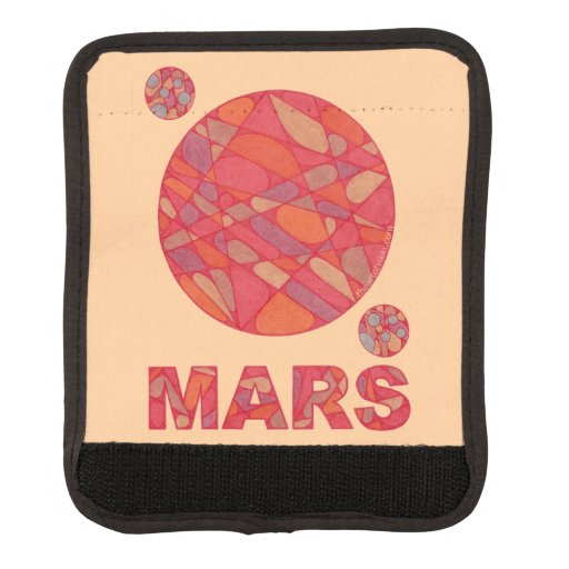 Mars The Red Planet Space Geek Solar System Luggage Handle Wrap