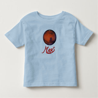 Mars - The Red Planet Toddler T-Shirt - PK BL GR Y
