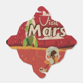 Mars Vintage Travel Poster Favor Box