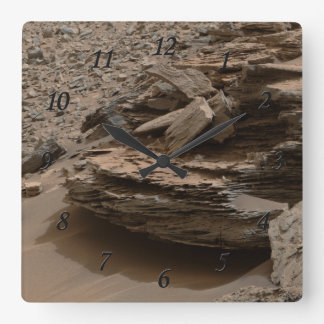 Mars Whale Rock Square Wall Clock