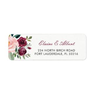Marsala Blush Pink Botanical Flowers