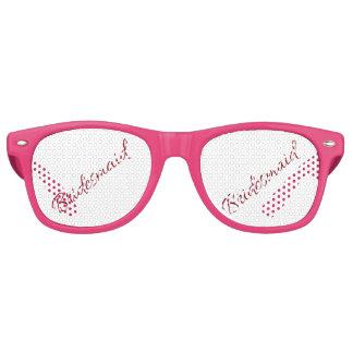 Marsala Bridesmaid Classic Script Retro Sunglasses