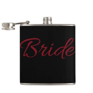 Marsala Burgundy Bride Gear Hip Flask