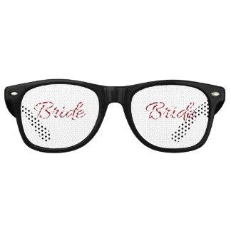 Marsala Burgundy Bride Gear Retro Sunglasses