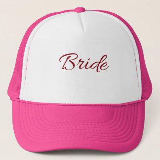 Marsala Burgundy Bride Gear Trucker Hat