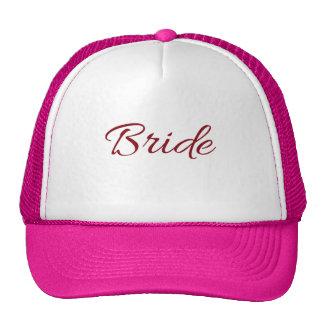 Marsala Burgundy Bride Gear Trucker Hat