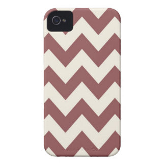 Marsala Cream Beige Chevron Pattern iPhone 4 Covers