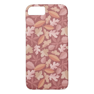 Marsala leaves pattern iPhone 7 case