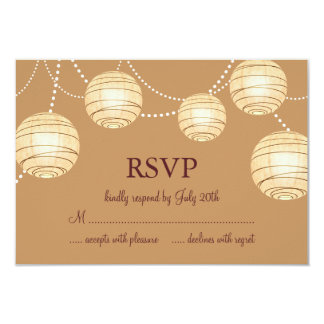 Marsala Party Lanterns RSVP Card