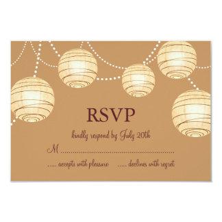 "Marsala Party Lanterns RSVP 3.5"" X 5"" Invitation Card"