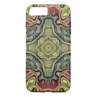 Marsala Red Ochre Yellow Teal Bali Batik Pattern iPhone 7 Plus Case