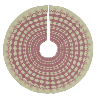 Marsala Sunburst Brushed Polyester Tree Skirt