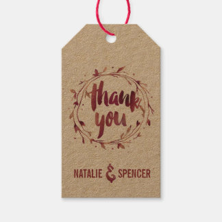 Marsala Watercolor Thank You Favor Pack Of Gift Tags