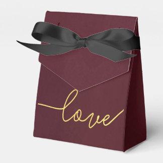 Marsala Wedding Favor Box, Wine Colored Favor Box