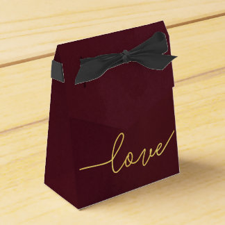 Marsala Wedding Favour Box, Wine Coloured Favor Box