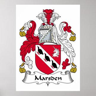 Marsden Family Crest Poster