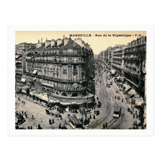 Marseille, France, Rue de la Republique, Vintage Postcard