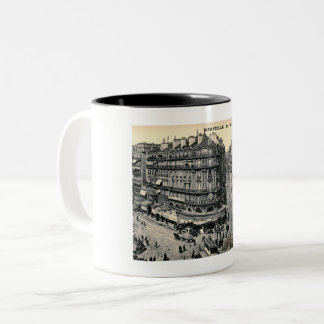 Marseille, France, Rue de la Republique, Vintage Two-Tone Coffee Mug