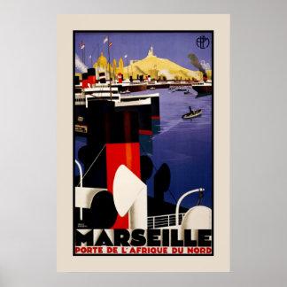 Marseille Porte Afrique Du Nord Poster